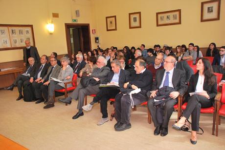 029Una panoramica del pubblico nell'aula delle lauree di Giurisprudenza della Sapienza